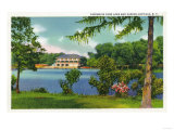 Buffalo, New York - Cazenovia Park View of the Lake and Casino Prints by  Lantern Press