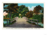Concord, Massachusetts - Old North Bridge View of Minute Man Statue No. 2 Prints by  Lantern Press