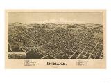 Indiana, Pennsylvania - Panoramic Map Prints