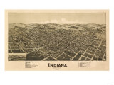 Indiana, Pennsylvania - Panoramic Map Prints by  Lantern Press