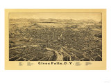 Glens Falls, New York - Panoramic Map Prints