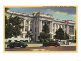 Bakersfield, California - View of the Kern County Court House Prints by  Lantern Press