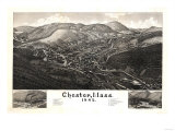 Chester, Massachusetts - Panoramic Map Prints