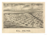 El Reno, Oklahoma - Panoramic Map Prints by  Lantern Press