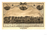 Battle Creek, Michigan - Panoramic Map Prints by  Lantern Press
