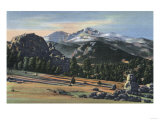 Estes Park, Colorado - Longs Peak View Prints by  Lantern Press