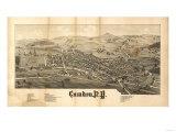 Camden, New York - Panoramic Map Art by  Lantern Press
