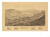 Hunter, New York - Panoramic Map Art by  Lantern Press