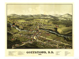 Goffstown, New Hampshire - Panoramic Map Art