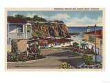 Laguna Beach, California - View of Emerald Bay & Residences Art by  Lantern Press