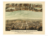 Berkeley Springs, West Virginia - Panoramic Map Art