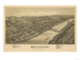 Kittanning, Pennsylvania - Panoramic Map Prints