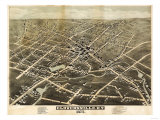 Gloversville, New York - Panoramic Map Prints by  Lantern Press