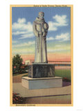 Bakersfield, California - Statue of Padre Garces in Garces Circle Prints by  Lantern Press