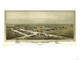 Fort Reno, Oklahoma - Panoramic Map Prints by  Lantern Press