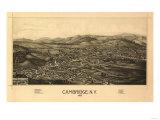 Cambridge, New York - Panoramic Map Prints by  Lantern Press