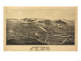 Hoosick Falls, New York - Panoramic Map Prints by  Lantern Press