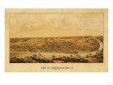 Fredericksburg, Virginia - Panoramic Map Prints by  Lantern Press