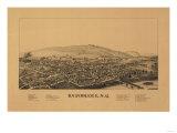 Bainbridge, New York - Panoramic Map Prints by  Lantern Press