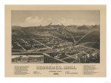 Bessemer, Michigan - Panoramic Map Prints by  Lantern Press