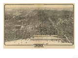 Chicago, Illinois - Panoramic Map No. 1 Prints