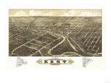 Kent, Ohio - Panoramic Map Prints