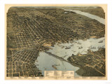 Jacksonville, Florida - Panoramic Map Prints