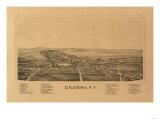 Caledonia, New York - Panoramic Map Prints by  Lantern Press