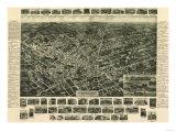 Hicksville, New York - Panoramic Map Prints by  Lantern Press