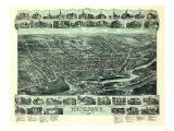 Hackensack, New Jersey - Panoramic Map Prints by  Lantern Press