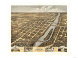 Geneva, Illinois - Panoramic Map Prints