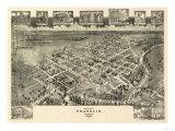 Franklin, Virginia - Panoramic Map Prints