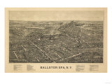 Ballston Spa, New York - Panoramic Map Prints