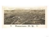 Gouverneur, New York - Panoramic Map Prints by  Lantern Press