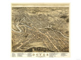 Dover, New Hampshire - Panoramic Map Prints by  Lantern Press
