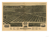 Kearney, Nebraska - Panoramic Map Kunstdrucke von  Lantern Press