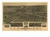 Kearney, Nebraska - Panoramic Map Prints by  Lantern Press