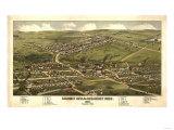 Calument-Hecla-Red Jacket, Michigan - Panoramic Map Prints by  Lantern Press