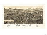 Granville, New York - Panoramic Map Art