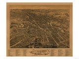 Dover, New Hampshire - Panoramic Map Art by  Lantern Press