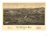 East Pepperell, Massachusetts - Panoramic Map Art