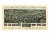 Egg Harbor City, New Jersey - Panoramic Map Art by  Lantern Press