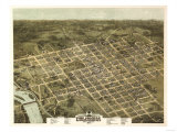 Columbia, South Carolina - Panoramic Map Art by  Lantern Press
