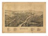 Greene, New York - Panoramic Map Prints by  Lantern Press