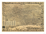 Elizabeth, New Jersey - Panoramic Map Prints by  Lantern Press