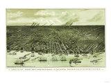Detroit, Michigan - Panoramic Map Prints