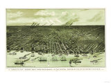 Detroit, Michigan - Panoramic Map Prints by  Lantern Press