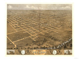 Decatur, Illinois - Panoramic Map Prints by  Lantern Press