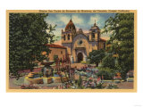 Carmel, CA - Mission San Carlos de Borromeo de Monterey Prints by  Lantern Press