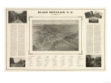 Black Mountain, North Carolina - Panoramic Map Prints by  Lantern Press